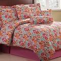 Printemps Floral Microfiber 7-piece Comforter Set