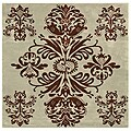 Hand-tufted Tomthy Green Wool Rug (6' Square)