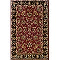 "Hand-tufted Traditional Red and Black Wool Area Rug (3'6 x 5'6) - 3'6"" x 5'6"""