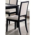 Dahlia Elegant Black Frame Dining Chairs (Set of 2)