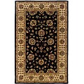 Hand-tufted Black Oriental Wool Rug (8' x 10') - 8' x 10'