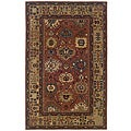 Hand-tufted Pink Oriental Wool Rug (5' x 8')
