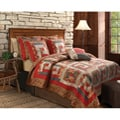 Greenland Home Fashions Log Cabin Full/ Queen-size 3-piece Quilt Set