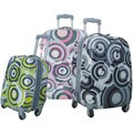 Olympia Picasso II (2 Carry-On) 3-piece Expandable Hardside Spinner Luggage Set