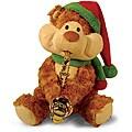 """12"""" Christmas Cheeks Animated Plush Teddy Bear Stuffed Animal - Brown"""