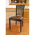 Aledo High-back Mahogany Leather Chairs (Set of 2)