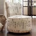 Moda Round Swivel Linen Chair