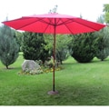 Cranberry Red Wood 13-ft Patio Outdoor Umbrella