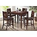 London Brown Wood Modern Pub Table Set