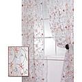 Exclusive Fabrics Marthas Bouquet White Embroidered Organza 96-inch Sheer Curtain Panel