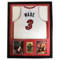 Dwayne Wade Autographed Jersey in Deluxe Frame (36 x 44)