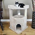 New Cat Condos 33-inch Corner Roost Sturdy Cat Tree