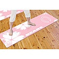 Fanmats Chicago Bears Pink-and-white PVC Yoga Mat - Slip-resistant