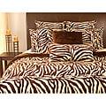 Shop Microplush Zebra Print King-size 3-piece Comforter ...