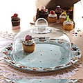 American Atelier Confections 13.5-inch Cake Plate with Glass Dome
