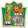 Melissa & Doug Jungle Friends Safari Jumbo Knob Puzzle