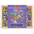 Melissa & Doug Butterfly Friends Wooden Bead Set in Storage Case