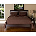 Belfast Chocolate 6-piece Full-size Duvet Cover and Insert Set