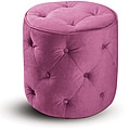 Round Ottoman with Tufted Buttons