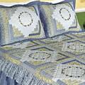 Morning Glory Yellow/ Blue Cotton 3-piece Bedspread Set
