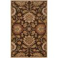 Hand-tufted Wool Chocolate Waltzer Rug (7'6 x 9'6)