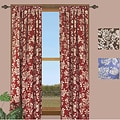 Federal Floral 84-inch Curtain Panel (Set of 2)