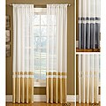 Top-down Reversible 108-inch Silk Banded Sheer Curtain