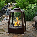 Real Flame 'Sierra' Copper Finish Fireplace