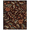 Hand-Tufted Hesiod Brown Area Rug - 9' x 12'