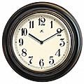 Benchmark 11.5-inch Black Wood Wall Clock