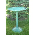 Tall Verdigris Finish Birdbath