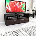 Sonax Naples 48-inch Black and Ebony Pecan TV Bench