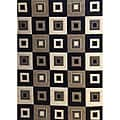 Modern Deco Black Blocks Rug - 5'2 x 7'2