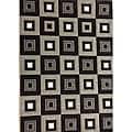 Modern Deco Chocolate Blocks Rug (3'9 x 5'1) - 3'9 x 5'1