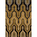 Gold/ Black Transitional Area Rug (7'8 x 10'10)
