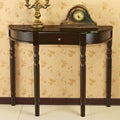 Espresso Wooden Entry Way Sofa Console Table with Drawer