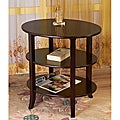 Espresso Finish Wooden Oval Side End Table