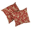 Splash Red Leaves with Tan Background 18-inch Pillows (Set of 2)