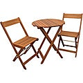 Merry Products Stained Natural Bistro Set