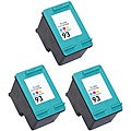 Hewlett Packard 93 Colored Ink Cartridge (Pack of 3 Color) (Remanufactured)