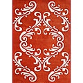 Alliyah Handmade Cherry Tomato New Zealand Blend Wool Rug (9' x 12')