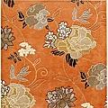 Hand-tufted Delhi Red Orange Wool Rug (6' Square)