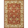 Alliyah Handmade Soft Red Red New Zealand Blend Wool Rug(5' x 8')