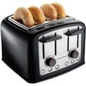 Hamilton Beach Black Cool Touch 4 Slice Toaster