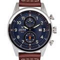 Jules Breting Adama Stainless Steel Men's Swiss Chronograph Blue Dial Watch