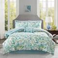 Madison Park Essentials Kiley Aqua Complete Comforter and Cotton Sheet Set