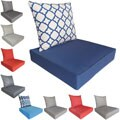 Corvus Messina Outdoor Chair Seat and Back Cushion Set