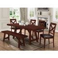 """60"""" Solid Wood Trestle Dining Table - Espresso"""