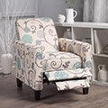 Darvis Floral Fabric Recliner Club Chair by Christopher Knight Home