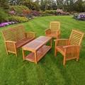 Acacia Wood 4-Piece Natural Patio Set